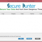 Secure Hunter Anti-Malware Secure Hunter Anti-Malware scan schedule