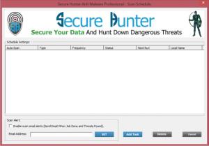 Secure Hunter Anti-Malware Secure Hunter Anti-Malware scan schedule
