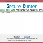 Secure Hunter Anti-Malware Secure Hunter Anti-Malware Threat Management