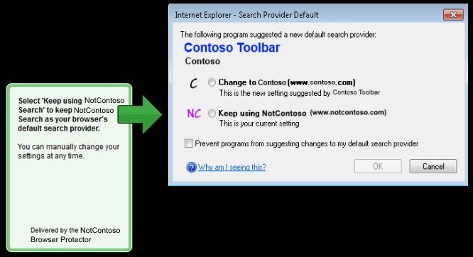 Internet Explorer confirmation dialog box